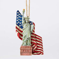 Jim Shore Statue of Liberty w/American Flag Christmas Ornament ~ 4053847