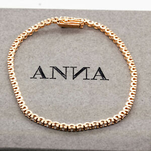 ANNA BRACELET TENNIS IN 18 KT ROSE GOLD WITH 95 WHITE DIAMONDS 0.50 CT