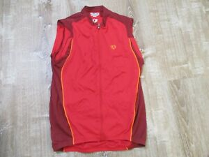 MENS PEARL IZUMI Ultrasensor CYCLING BICYCLE JERSEY SLEEVELESS SIZE L LARGE red