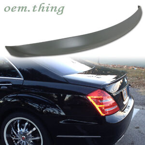 Unpainted Fit FOR Mercedes BENZ S-Class S W221 Sedan A Style Trunk Spoiler S350
