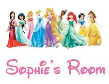 Personalised Any Name Princess Wall Decal 3D Art Stickers Vinyl Room Bedroom 15