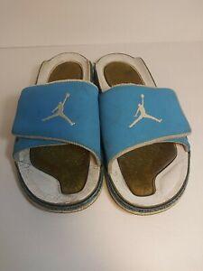 Air Jordan retro 3 powder blue hydro slides sandals mens size 12 pre-owned