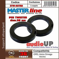 SUPPORTI TWEETER IN COPPIA 24 mm PER OPEL ASTRA. ADATTATORI AUTO MASTERLINE.