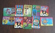 Lote de 10 calendarios de serie futbol del F.C. Barcelona años 80-90