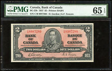 1937 Bank of Canada $2 - PMG Gem Uncirculated 65 EPQ, BC-22b - S/N: C/B8987280