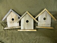 Barnwood Birdhouse Square Nail Perch For Mantle Or Shelf