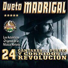 Dueto Madrigal 24 Cantares de Mi Pueblo y Corridos de la Revolucion CD New