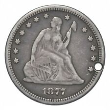 1877 Seated Liberty Engraved Love Token - Walker Coin Collection *537