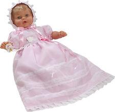 Berbesa - Muñeca Baby Dulzona llorona, 62 cm faldón rosa bolsa (8032R1)