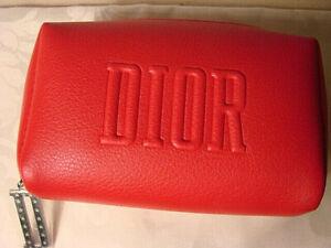 Dior ~ New Christian Dior Small Make Up Bag Zipper Top Red