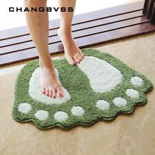 Bath Pad Carpet Mat Foot Print Non-slip Bathroom Toilet Rug Microfiber Mini Mat