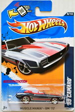 HOT WHEELS  2012 SUPER - SECRET TREASURE HUNT '69 CAMARO REAL RIDERS W+