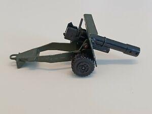 Matchbox Battle Kings K-116 England Field Gun Army in darkolive ca. 45 Jahre alt