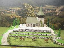 Diorama Bergkirche mit LED Beleuchtung Modellbau H0 1:87