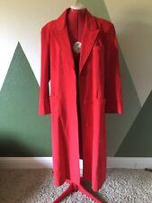 Vintage Samuel Robert Red Coat Womens Peter Hatsi Androu Soft Long Jacket L Xl