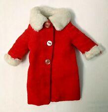 Vintage Barbie Skipper Red Coat Velvet N Lace 948 cold snap winter Christmas '63