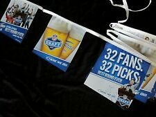 Bud Light Nfl Draft Flag Banner sign Fantasy Football Budweiser 32 rounds T=25