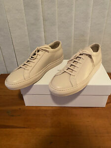 COMMON PROJECTS 1528-0600 Original Achilles Low Size 10 Leather Sneakers - Nude