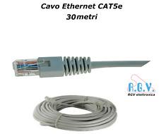 Cavo di rete ethernet RJ45 UTP LAN CAT5e patch cord 30mt per smart TV SKY modem