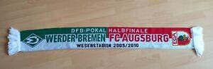 Fanschal Werder Bremen - FC Augsburg DFB-Pokal 2009/2010 Sammler selten Rarität