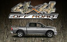 2 4x4 Off Road Truck Camouflage Camo Truck Bed Decals Stickers-BOS