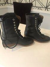 Authentic Chanel Combat Boots 37