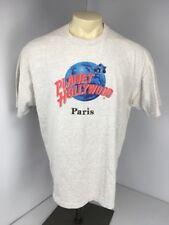 VTG 90s Planet Hollywood Paris France Vacation Souvenir Gray S/S T Shirt Sz XL