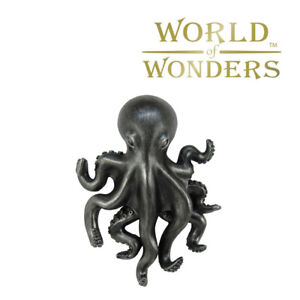 "Pewter Octopus Keyholder Home Decor 9"" Living Room Nautical Gothic Decor"