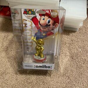 Nintendo Switch Amiibo Super Smash Bros with protector Super Mario Gold