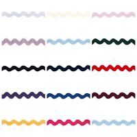 Medium Width Ric Rac Braid Trim - 14 Colours - Volume Savings & Free Postage