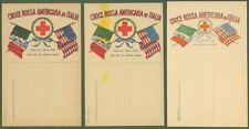 CROCE ROSSA AMERICANA IN ITALIA. Tre cartoline (2 tipi diversi).