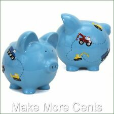 Child to Cherish Train, Construction Piggy Bank - FREE SHIPPING
