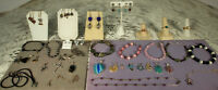 STERLING GEMSTONE JEWELRY LOT 39pcs Amethyst Citrine Peridot Topaz Southwest +++