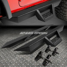 """FOR 07-16 JEEP WRANGLER 2-DOOR 3"""" SIDE BAR NERF RUNNING BOARDS+DOWNPIPE STEP PAD"""