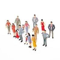 100*Train Scenery Mini Painted Model Figures1:150Standing/Sitting People ModCMU