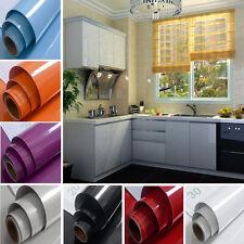 Rollos De Papel Tapiz De Brillo Auto Adhesivo Pared Adhesivo Decoración cubierta de armario de cocina