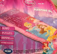 "New Disney Princesses Slumber Sleeping Bag Tote Bag  28 x 56"" Pink"