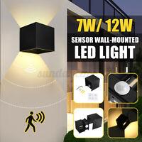 LED Außenleuchte mit/Ohne Bewegungsmelder Gartenlampe Wandleuchte COB Wandlampe