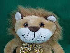 ANIMAL ALLEY HAPPY LION LEOPARD PRINT BOW ECO-FRIENDLY PLUSH STUFFED ANIMAL TOY