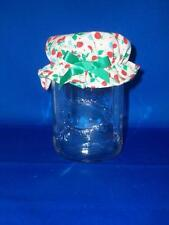 AVON Preserves Candy Jar/Trinket Jar with Cloth Lid Cover