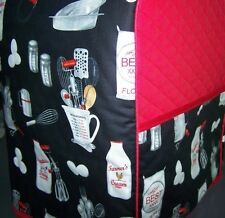 Kitchen Cooking Utensils Quilted Fabric Cover KitchenAid Mixer NEW