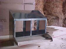 "(12x2L)  2-Hole 12""X12"" Metal Chicken Nesting Box  NEW (egg, chick, hen, USA)"