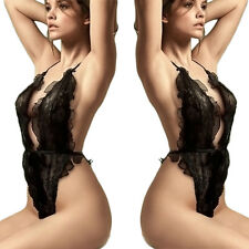 Women Hot&Sexy One-piece Deep V-neck Bodysuit Teddies Backless Swimsuit Clubwear