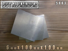 De 6 Mm Placas De Aluminio 100mm X 100mm - 5083