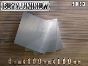 6mm Aluminium Plates 100mm x 100mm - 5083