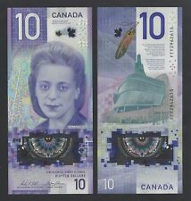 Canada $10 2018 polymer note, prefix FTW or FTY
