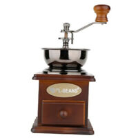 Vintage Style Wooden Manual Coffee Grinder Hand Crank Coffee Mill Home Use