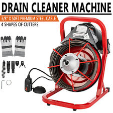 Drain Cleaning Machine 50 Ft Auger Cleaner Sewer Snake Plumbing For 1 4 Pipes