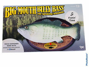🔥 Big Mouth Billy Bass Fishin Time 2018 Singing Fish Bluetooth/Amazon Echo