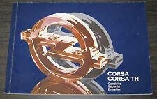 Entretien Opel Corsa A / Corsa TR Betriebsanleitung Conduite Stand 09/1982!
